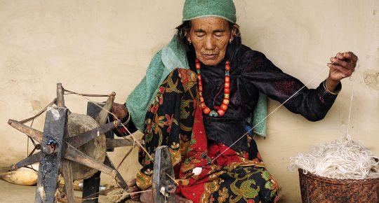 Local Handmade cloth in Ghorepani