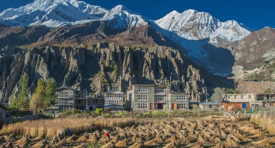 Manang Village and Gangapurna Mountain