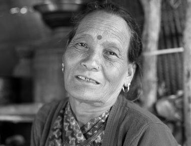 Nepali woman face