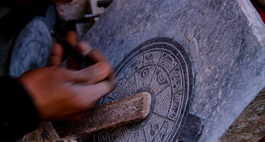 stone carving swoyambhu