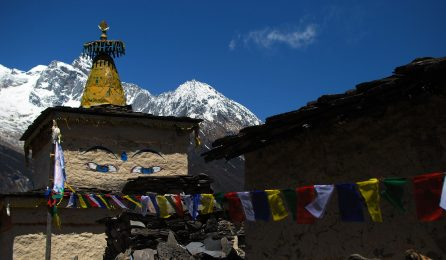 Buddhist Chorten in Tsum Valley