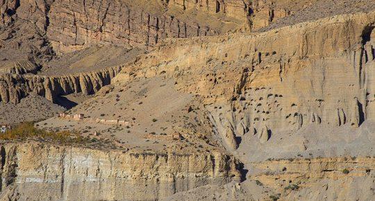 Chhusang Caves in Upper Mustang